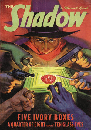 SHADOW DOUBLE NOVEL VOL 142 5 IVORY BOXES QUARTER OF 8