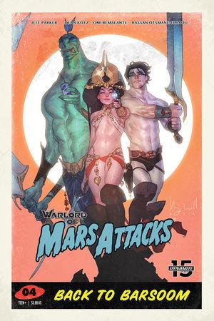 WARLORD OF MARS ATTACKS CVR D CALDWELL 4D