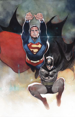 BATMAN SUPERMAN CVR B CARD STOCK VAR ED YOTV 4