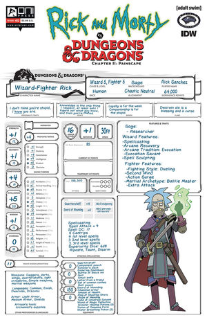 RICK AND MORTY VS D&D II PAINSCAPE (2019) #2C