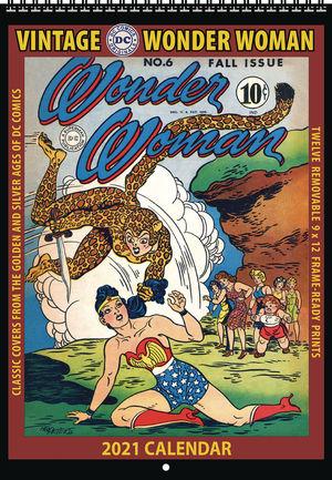 VINTAGE DC COMICS WONDER WOMAN 2021 WALL CALENDAR #1
