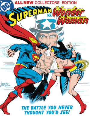 SUPERMAN VS WONDER WOMAN TABLOID ED HC (2020) #1