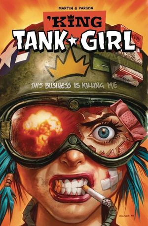 KING TANK GIRL CVR B STAPLES CARDSTOCK 4