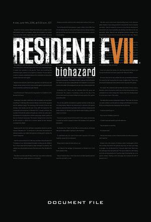 RESIDENT EVIL 7 BIOHAZARD DOCUMENT FILE HC (AUG208424)
