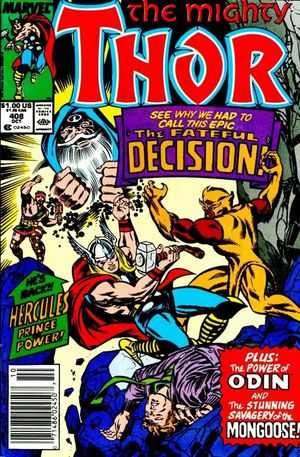 THOR (1962-1996 1ST SERIES JOURNEY INTO MYSTERY) #408