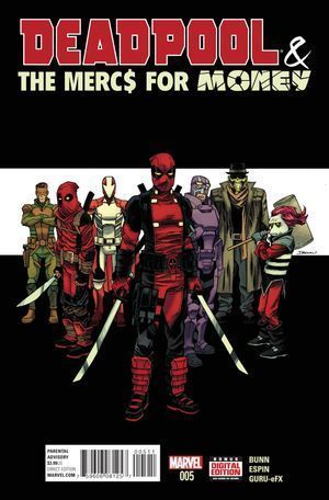 DEADPOOL AND THE MERCS FOR MONEY (2016 MARVEL 1ST  #5A