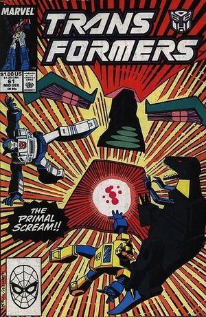 TRANSFORMERS (1984 MARVEL) #61