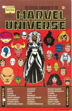 OFFICIAL HANDBOOK OF THE MARVEL UNIVERSE MASTER ED #11