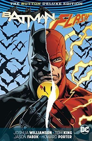 BATMAN FLASH THE BUTTON DELUXE ED HC #1 REP